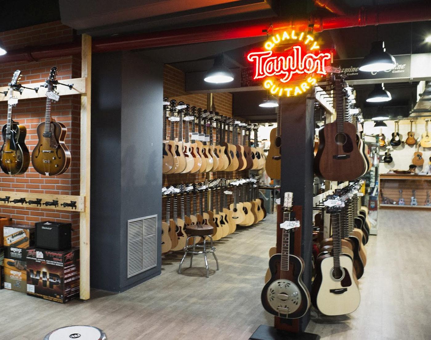 music Paris store shop instruments Piano guitar department store culture