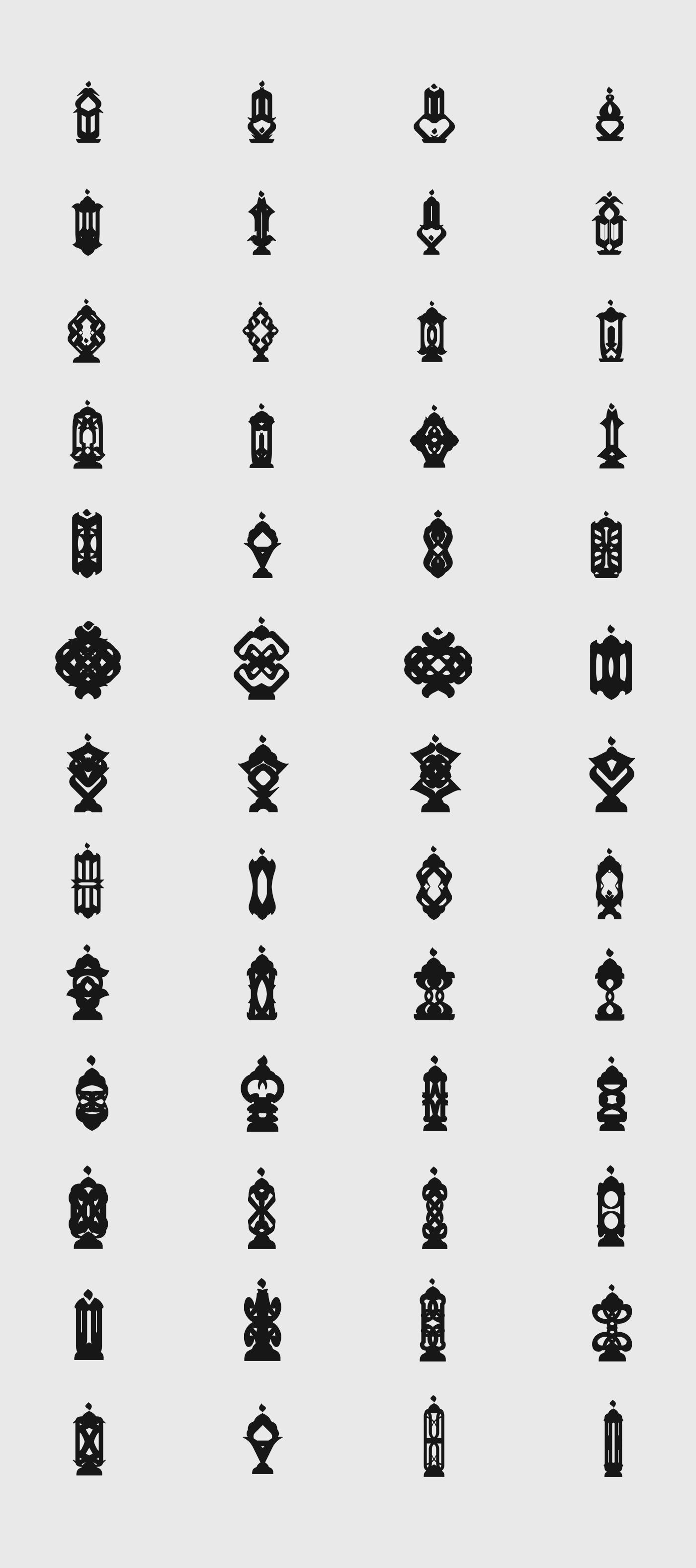 lanterns in black