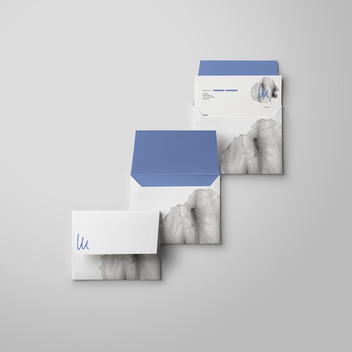 Corporate Design graphic design  ILLUSTRATION  handmade sketches brand blue grey Corporate Identity