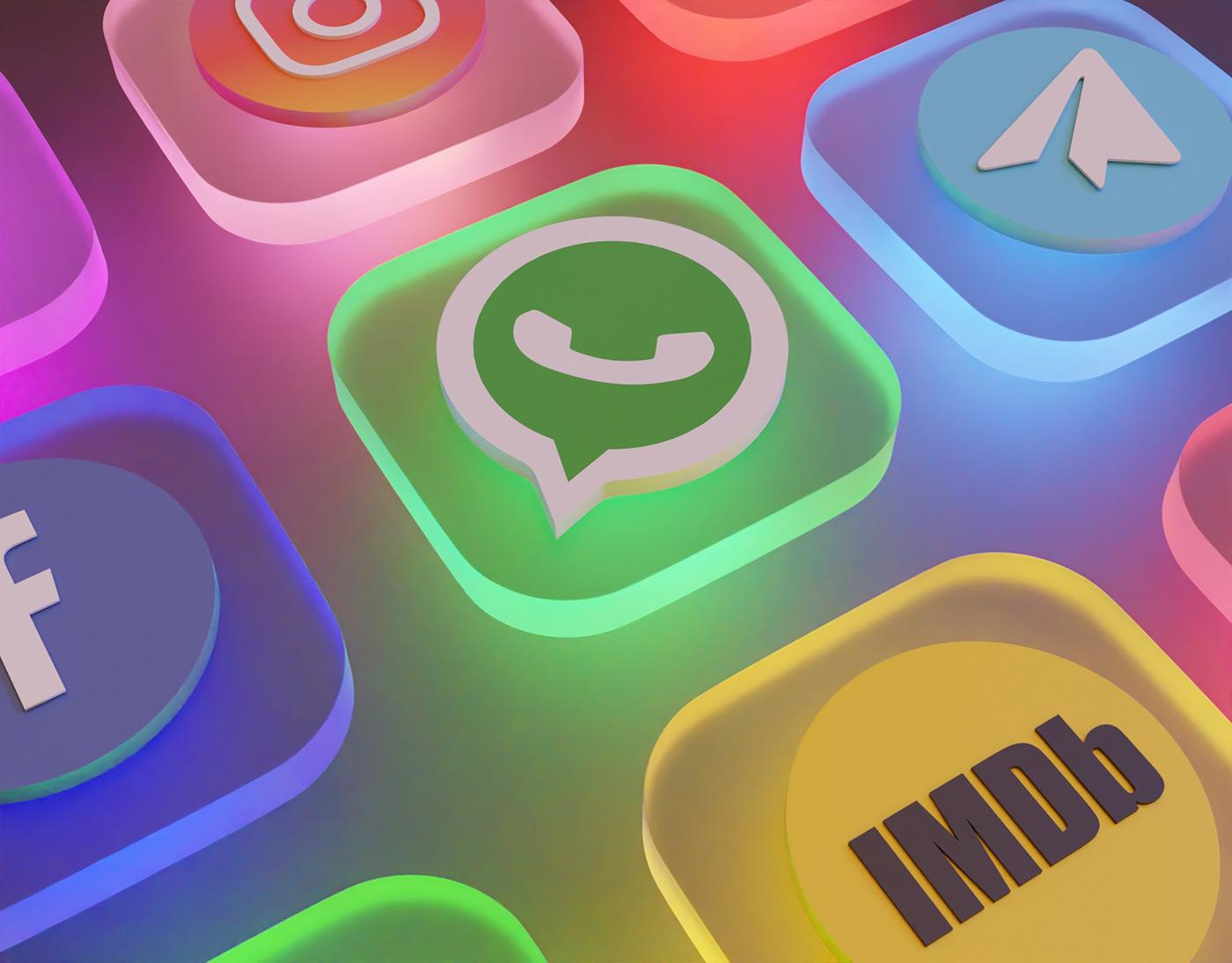 3d icons,3D model,app icons,armin khorsandipour,blender,icons,telegram icon,WhatsApp