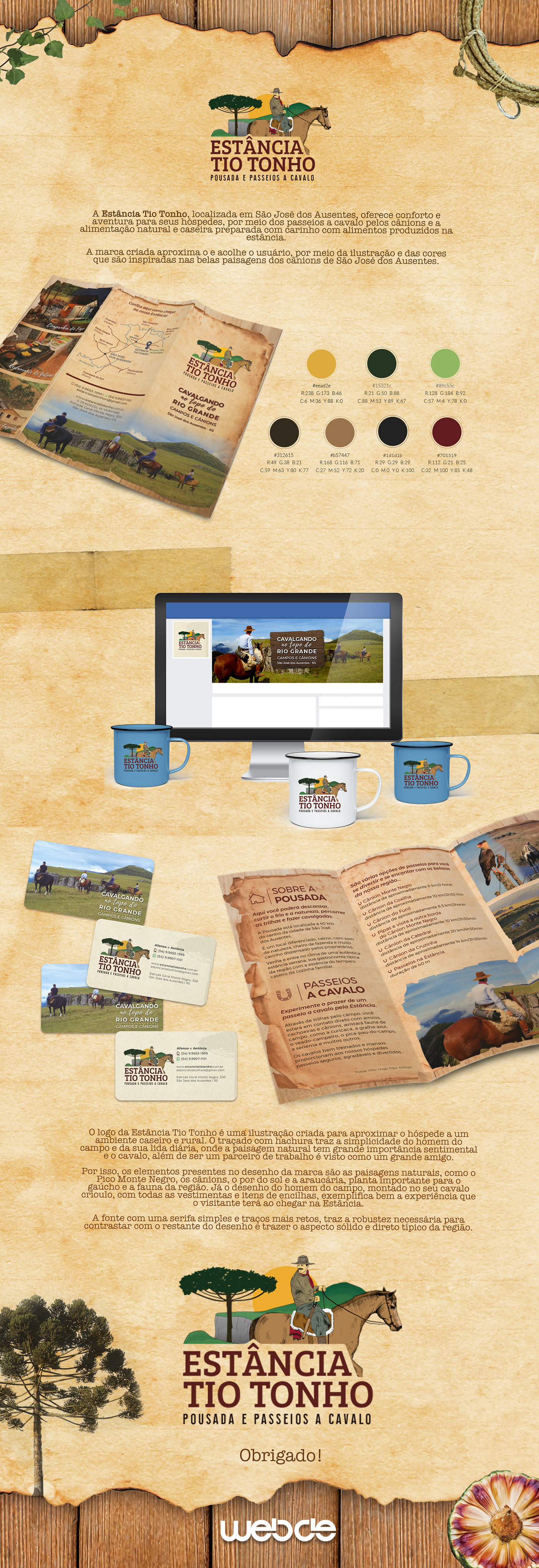 ILLUSTRATION  marca horse fazenda design brand branding  campo graphic design  Gaucho