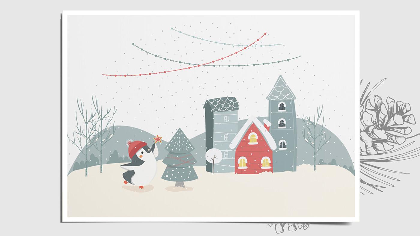 Image may contain: christmas tree, illustration and cartoon