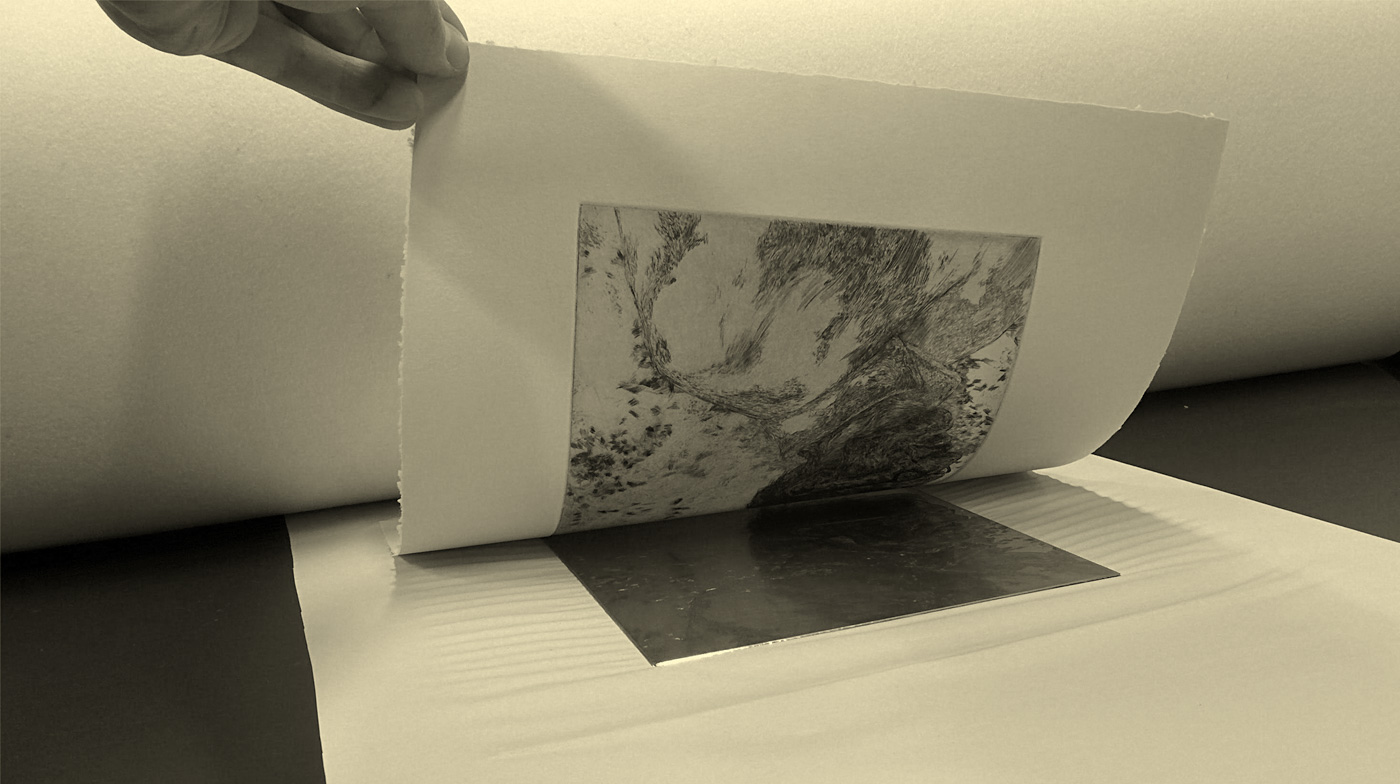 Adobe Portfolio etching DryPoint Realism print-making estampe
