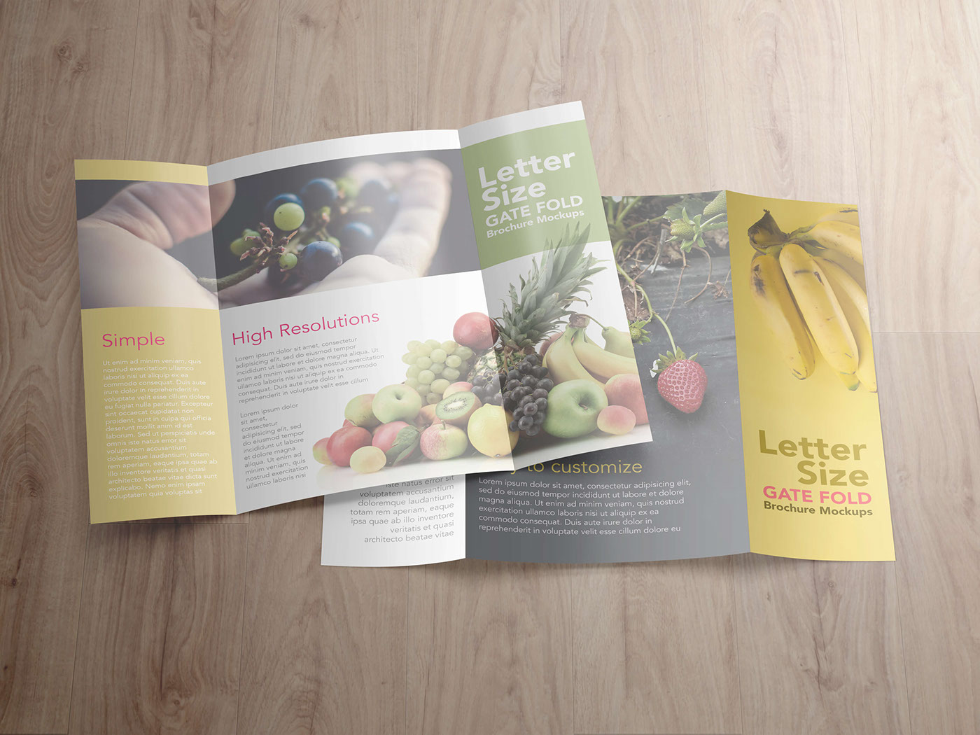 Gatefold Brochure Mockups On Behance