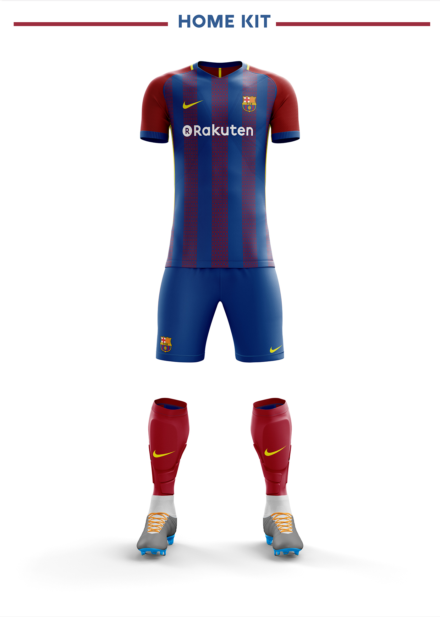 Fc Barcelona Football Kit 18/19  on Behance