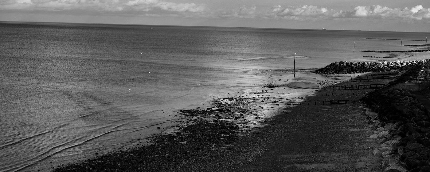 Photography  norwich norfolk broads reculver seascape coastal Landscape Perspective monochrome raw