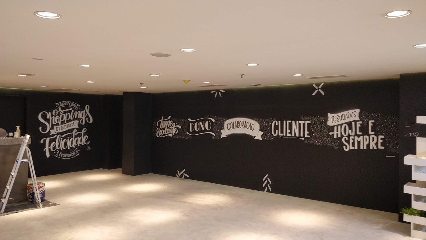 lettering typography   Handlettering wall Chalkboard chalklettering
