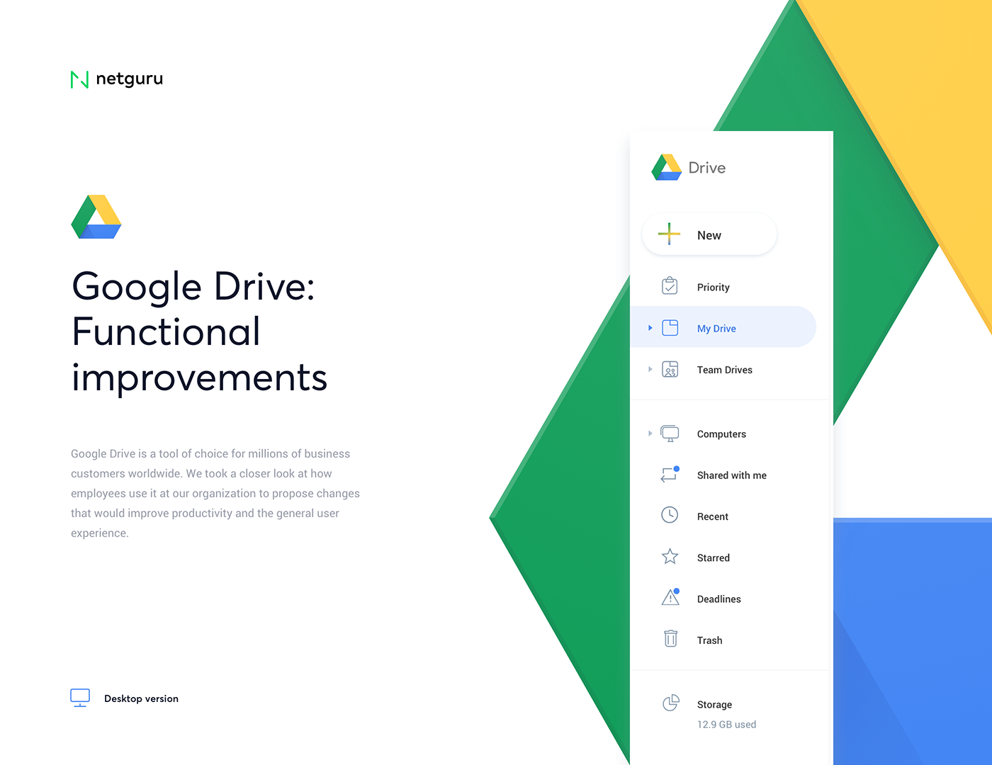 Google Drive Redesign Concept Ux Design Case Study Search By Muzli