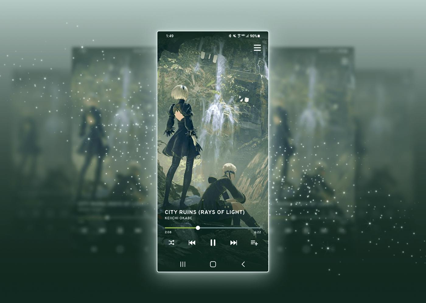 app daily ui DailyUI Figma mobile Music Player nier UI UI/UX ux
