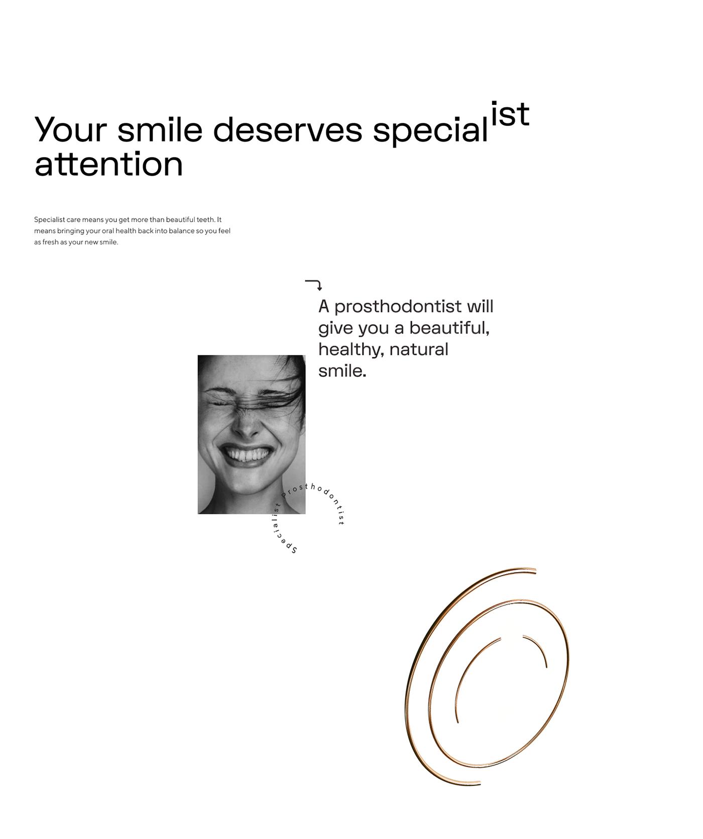 branding  dental Web Australian Figma identity