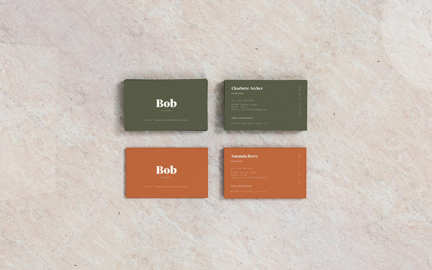 Bob Melbourne branding  nicole miller-wong graphic design  auckland New Zealand art direction  print design