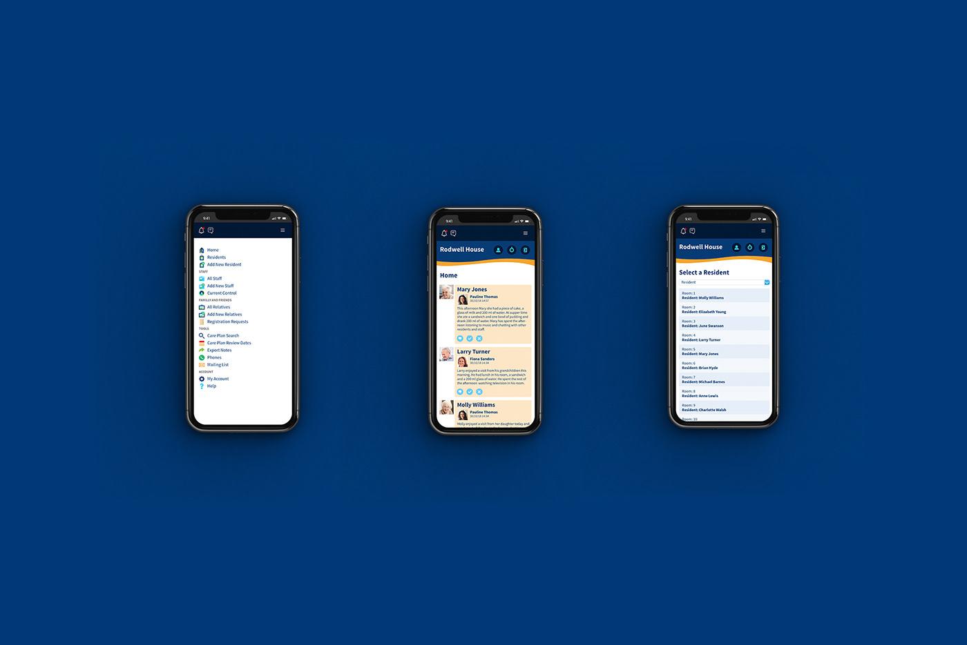 healthcare care home Health care web app Web design Technology