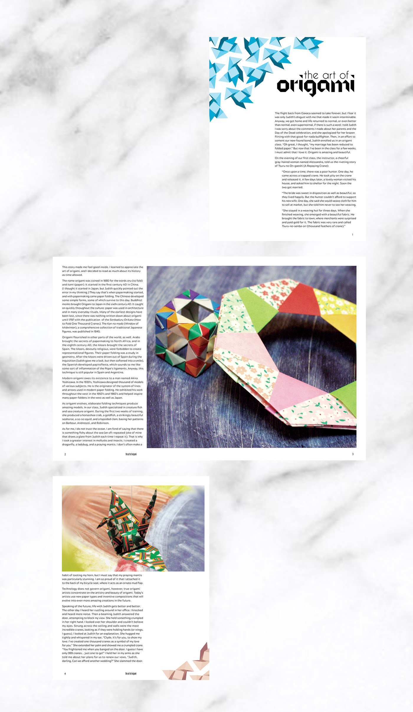 The Art Of Origami Editorial On Behance