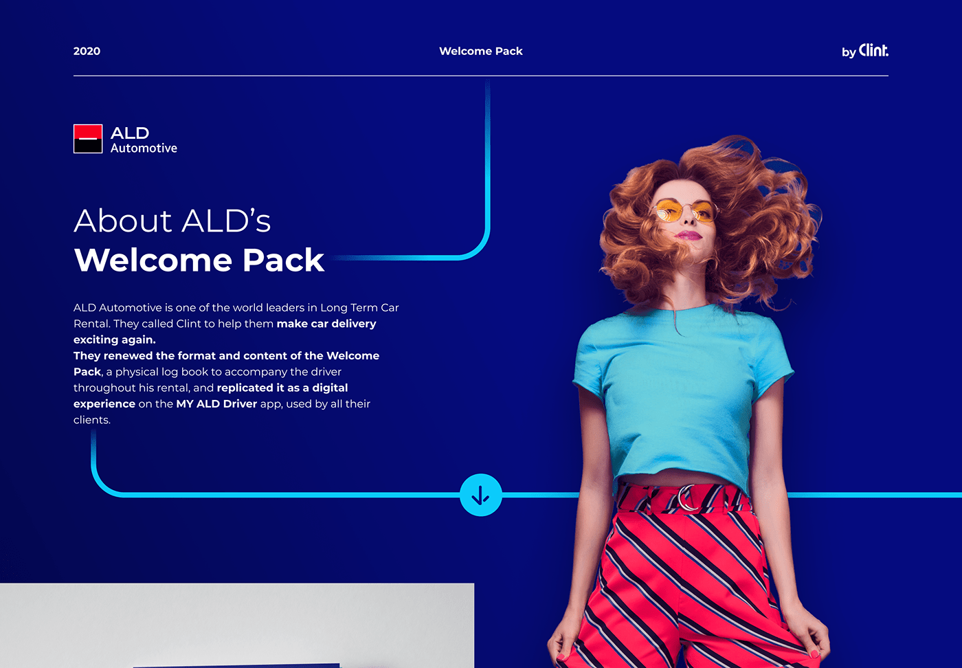 ald car LLD location Mobile app print welcome pack