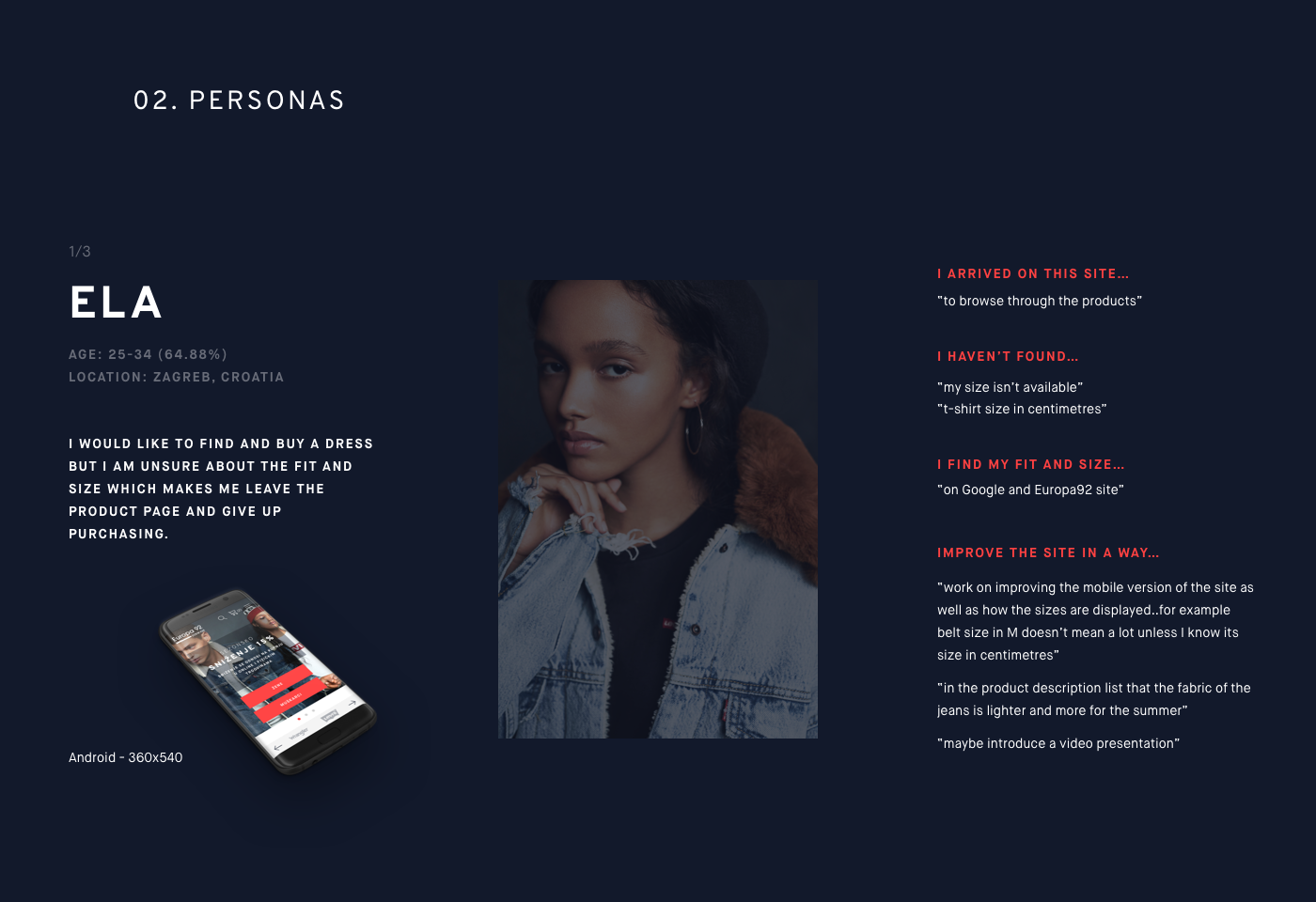 UI UX design Thinking design process e-commerce Fashion  jeans Human-Centered user-centered Usability Interaction design