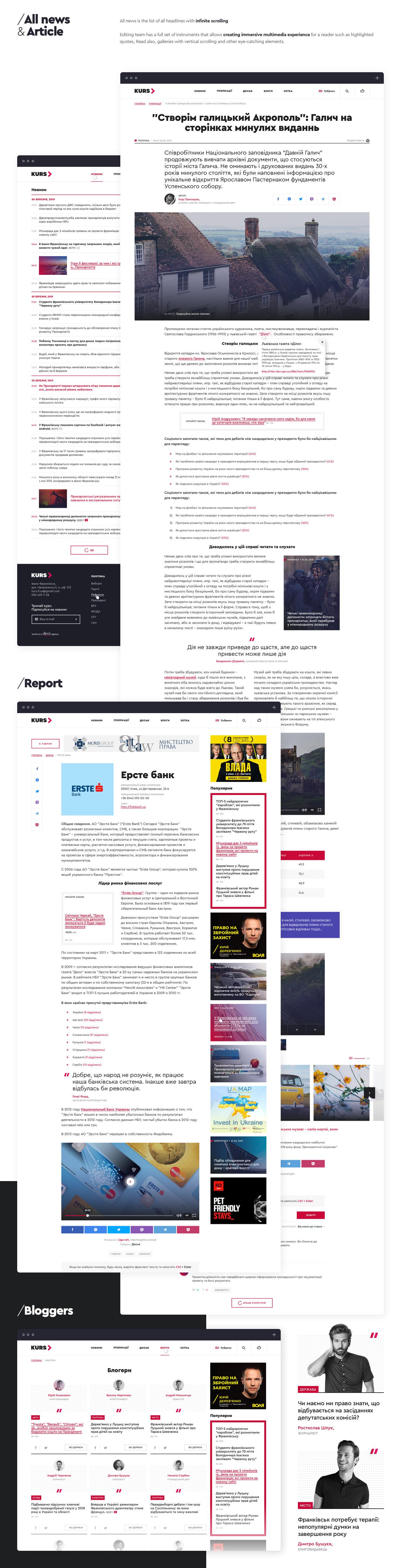 Web UI animation  gif site news media agency Kyiv wordpress