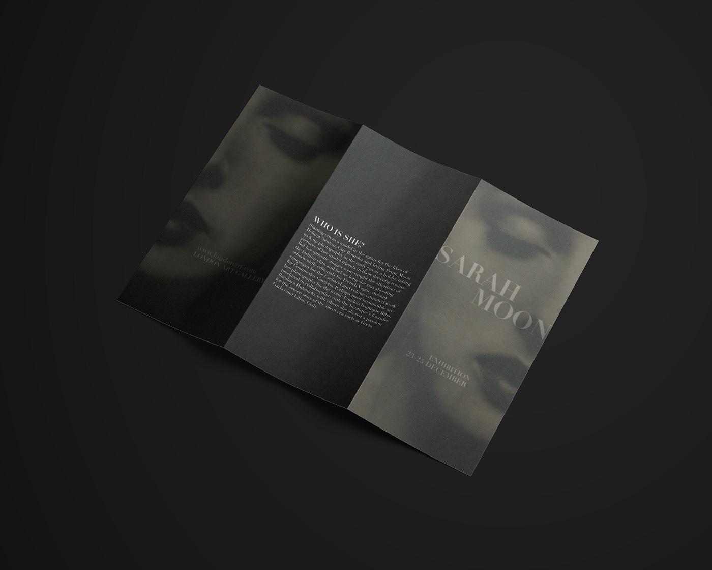 brochure Event Exhibition  Fashion  sarah moon