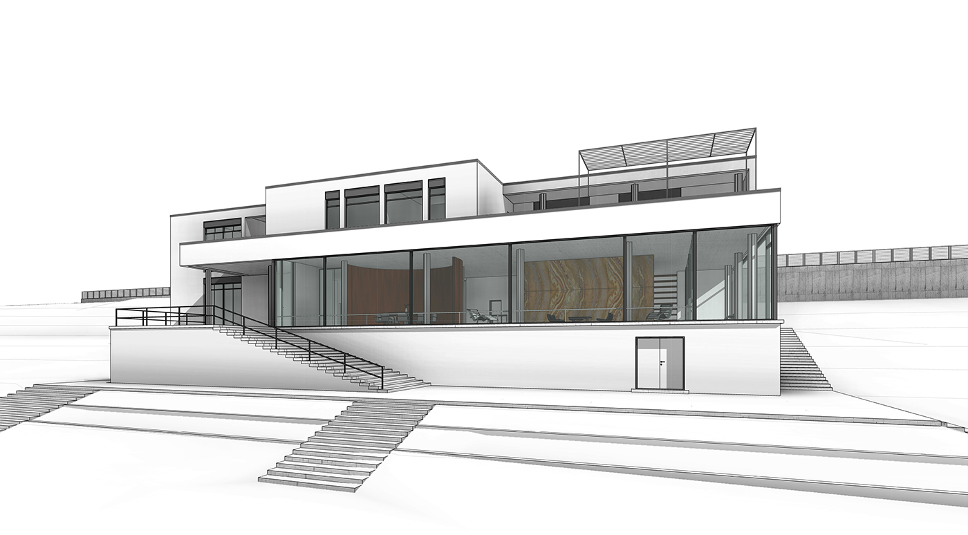 Revit training villa tugendhat on behance for Revit architecture modern house design 1