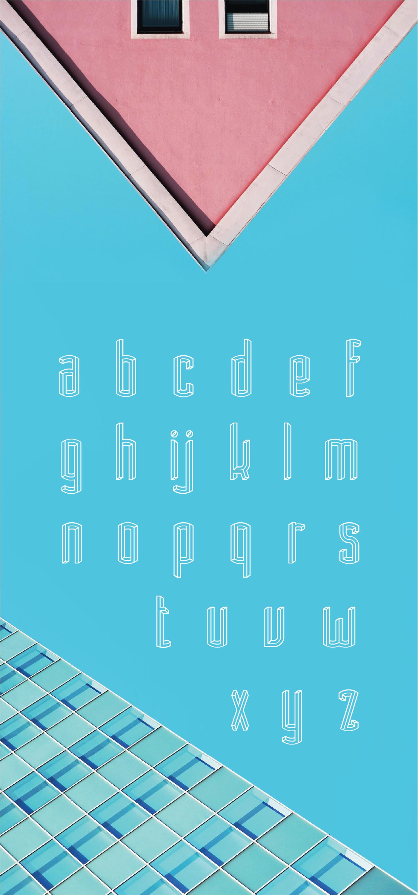 font modern illusion escher tall condensed poster logo crazy Beautiful