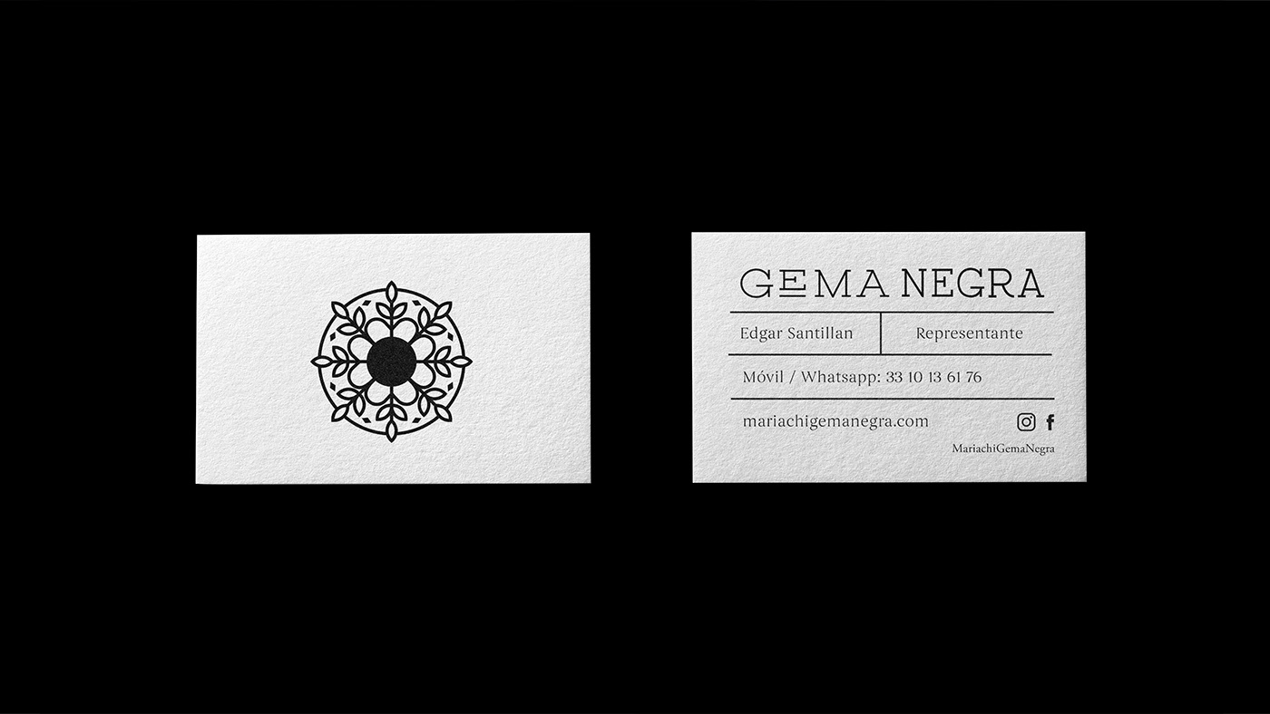 mariachi Gema Negra branding  identity symbol Logotype wordmark Guadalajara music video Web Design