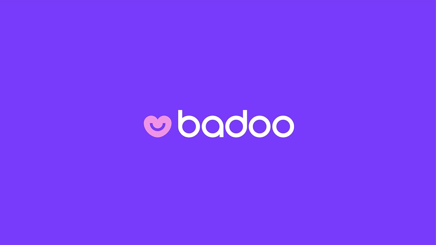 badoo,branding ,colours,graphic design ,identity,Logotype,motion,typography