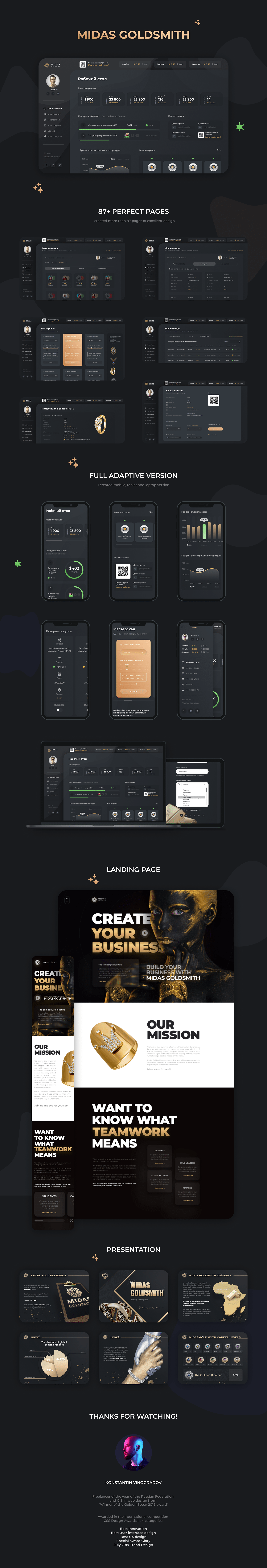 Crypto design finance financial platform Fintech girl gold golden landing page UI UX design Web Design