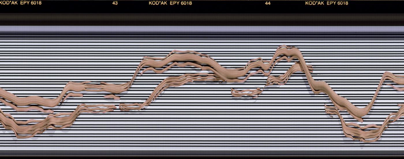 synchroballistic Piano music analog 125 magazine editorial slit scan