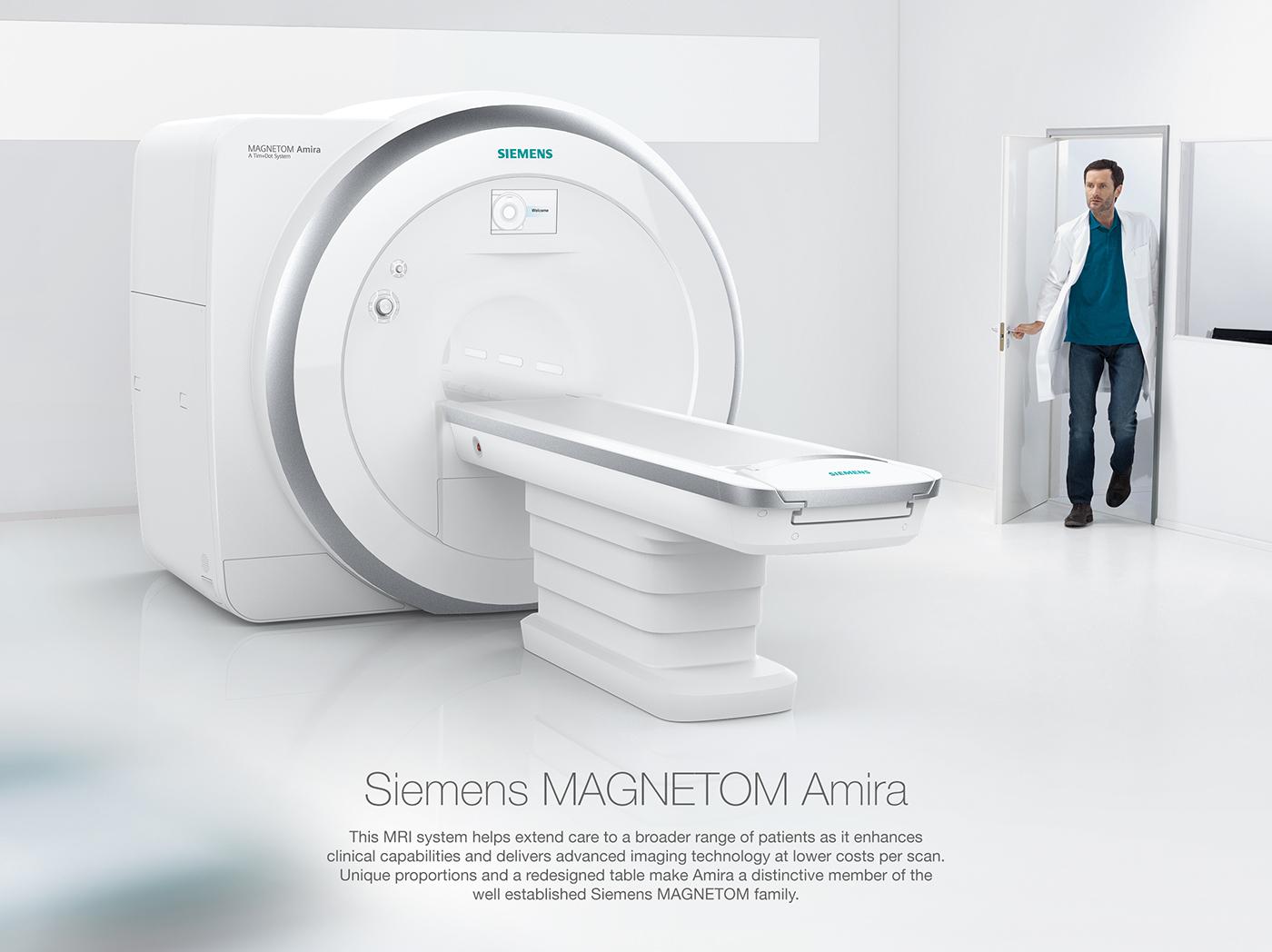 mri medical healthcare scanner sketches 3D Rendering hospital patient human centered design doctor