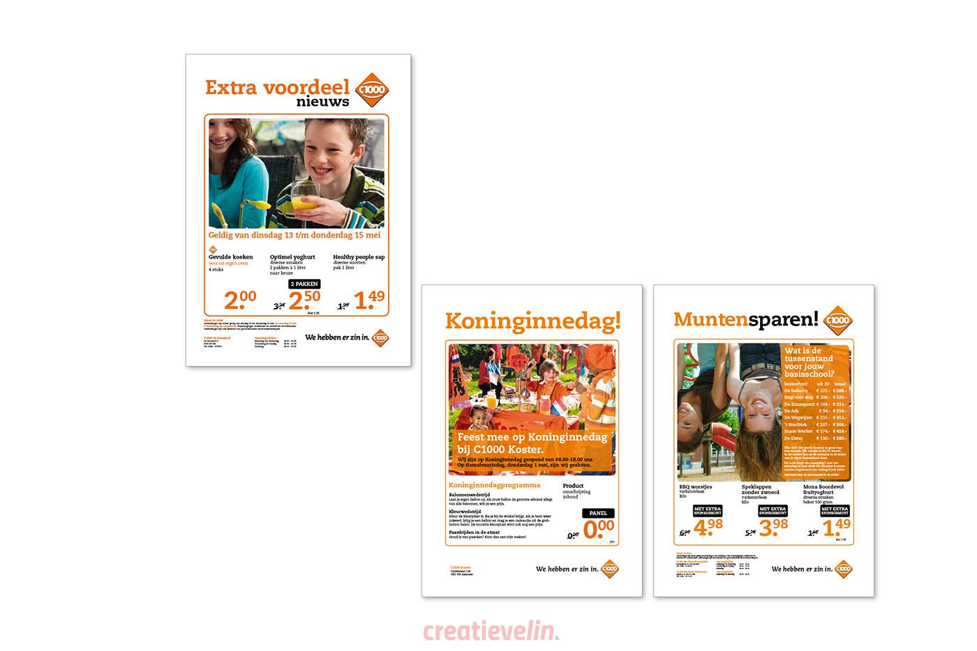 Advertentie campagne flyer folder Weekly