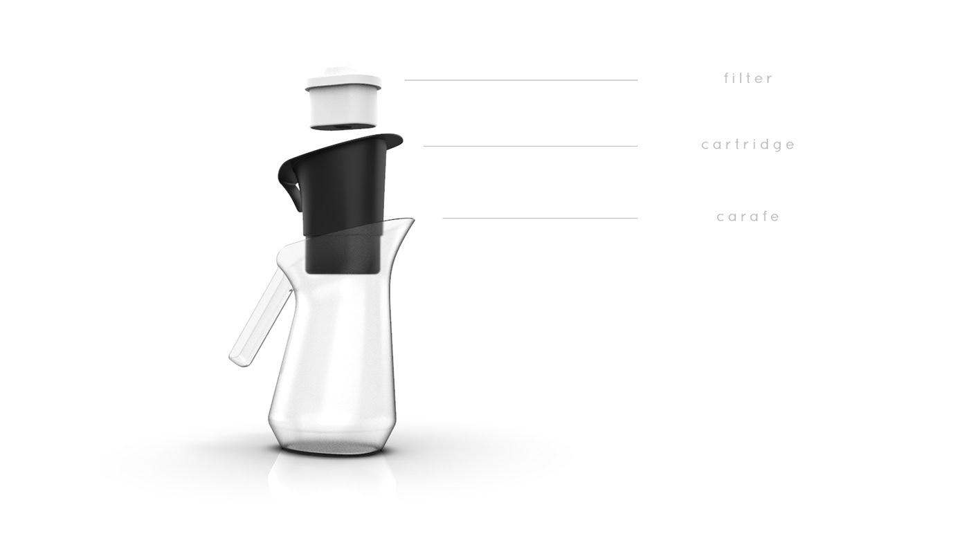 Brita Filter rendering cad surfacing redesign Siemens NX Brita Water Filter can product design