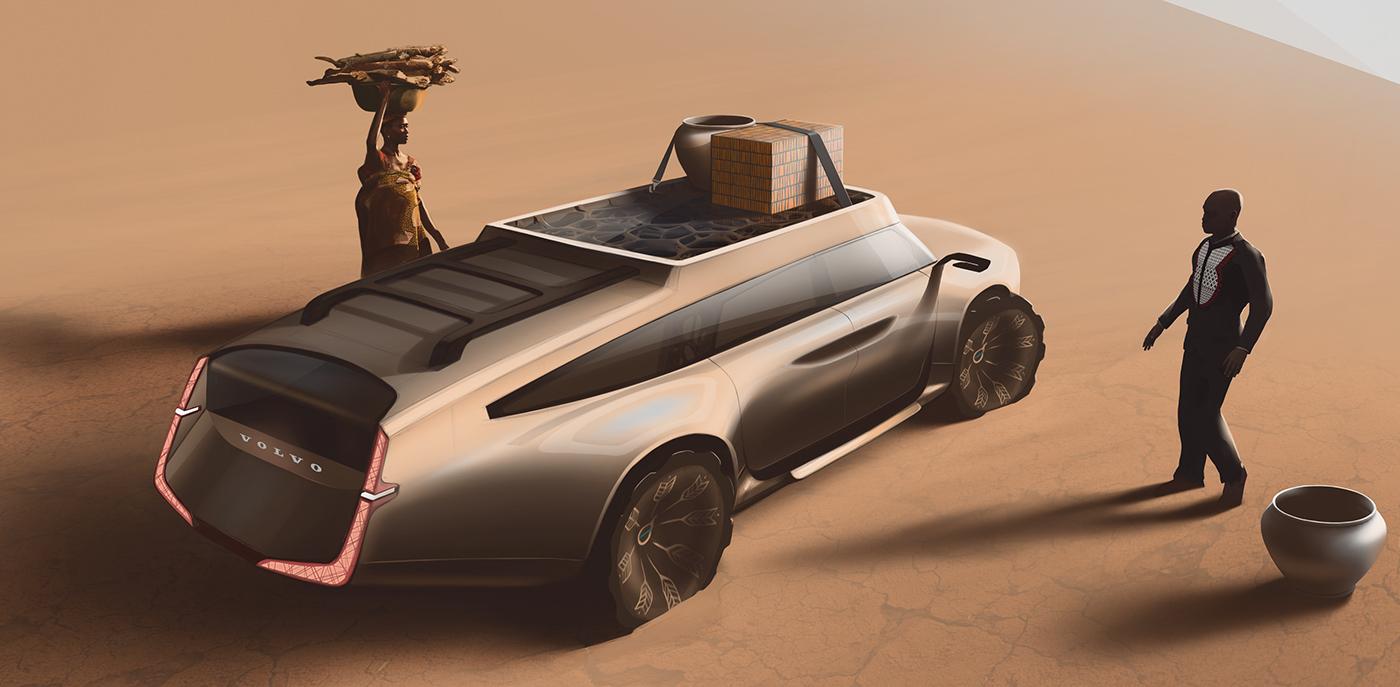 Adobe Portfolio Volvo design automotive   sketch concept