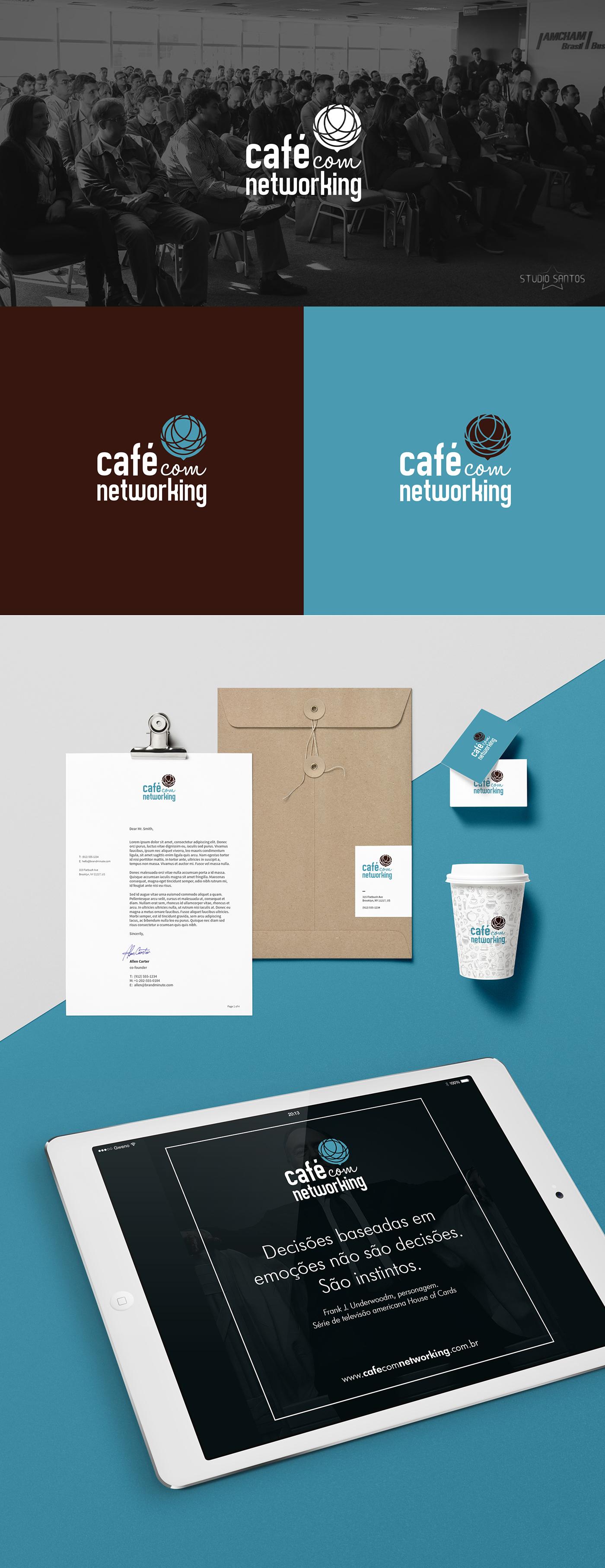 networking pessoas comunicação cafe Evento Coffee people logo brand communication blue