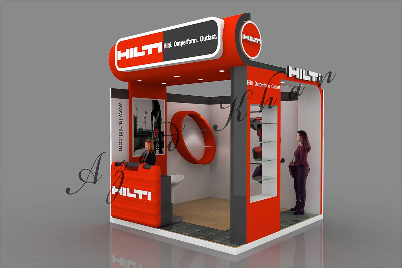 Exhibition Stall On Behance : Hilti stall design on behance