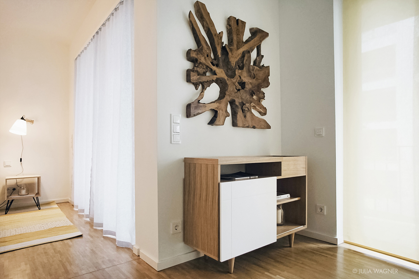 apartment design interior design  Scandinavian eco Retro modern berlin berlin design wood yellow