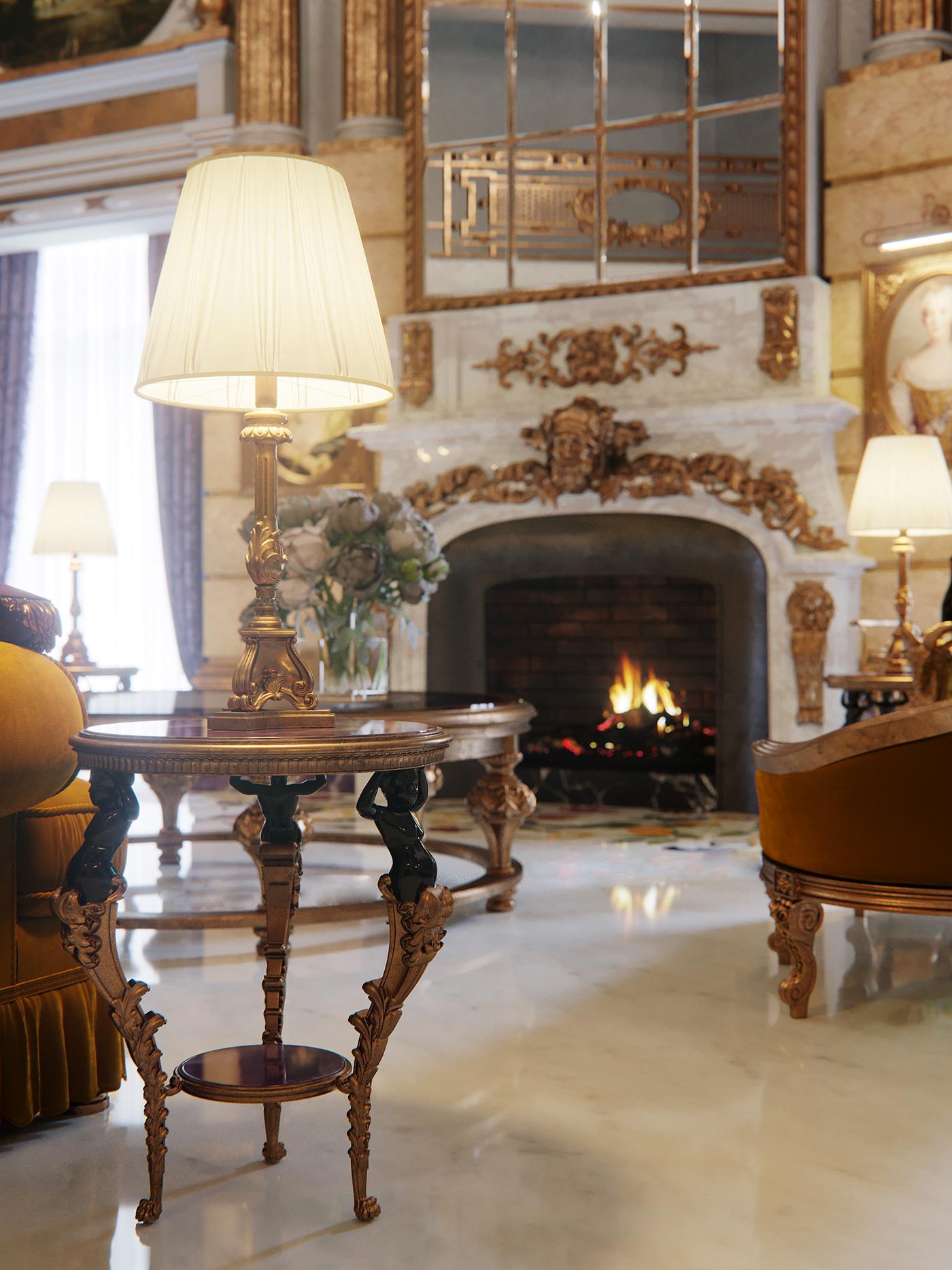 Interior Renders Barocco clasics Marble provasi