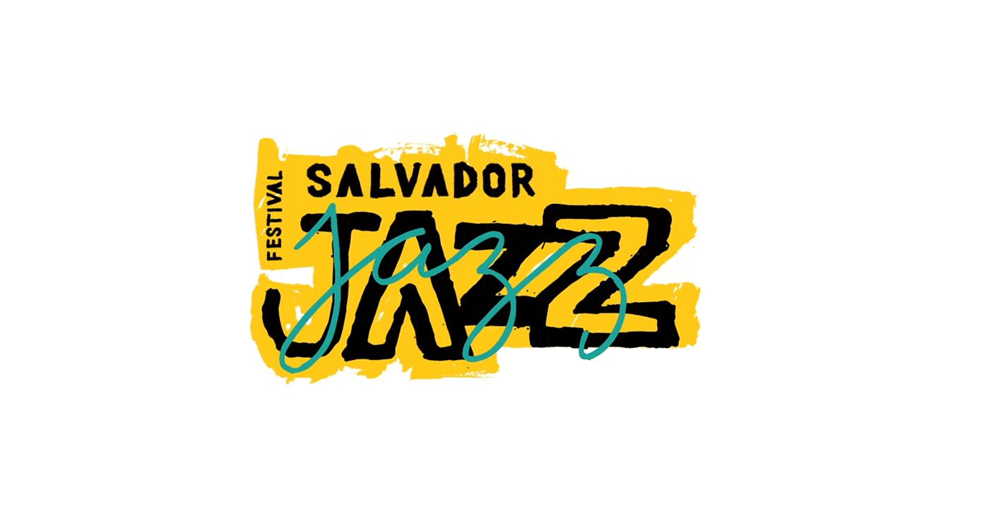 bahia festival identity ILLUSTRATION  jazz music salvador