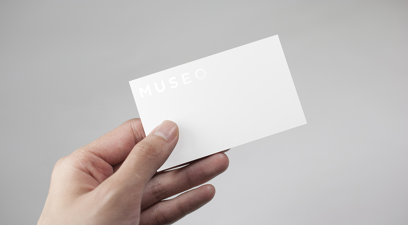 museo studiomuseo businesscard card Fashion
