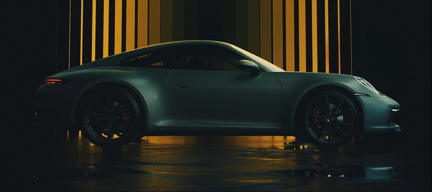 animation  Calligraphy   car CG commercial moon motion Porsche ramadan type