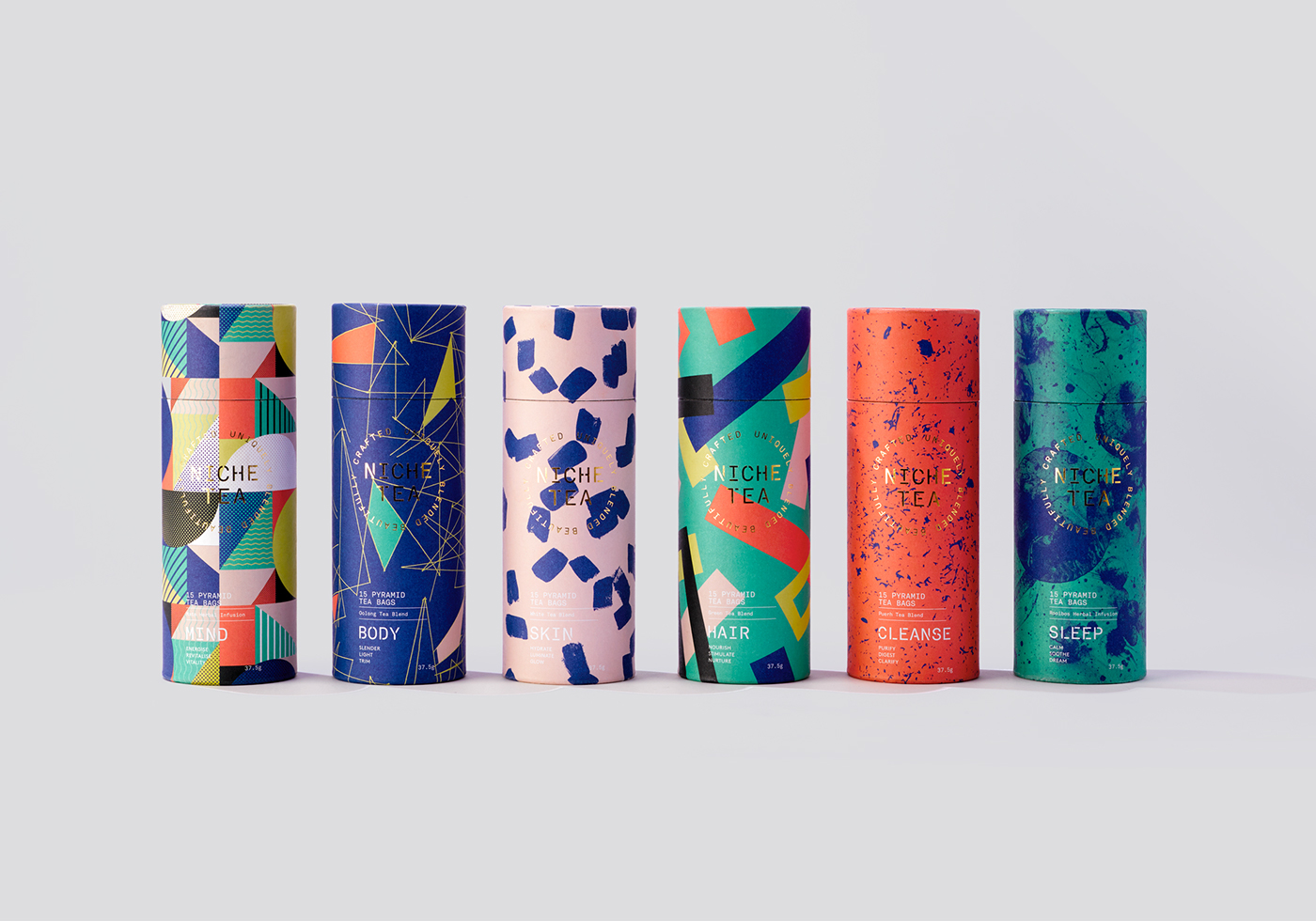 niche tea on behance