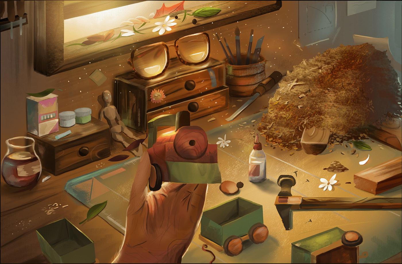 concept art ilustracion videojuegos Games ILLUSTRATION  Raincup Games Felipe Luna juguetes