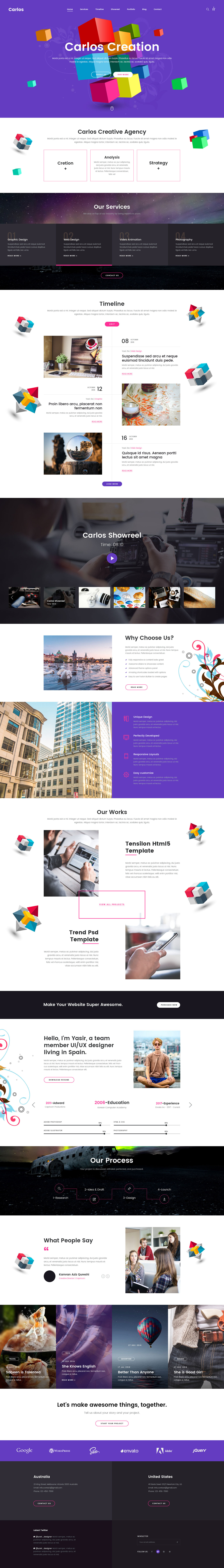 Carlos - Creative Agency Template