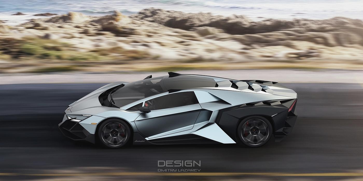 concept lamborghini Dmitry Lazarev Forsennato sportcar supercar