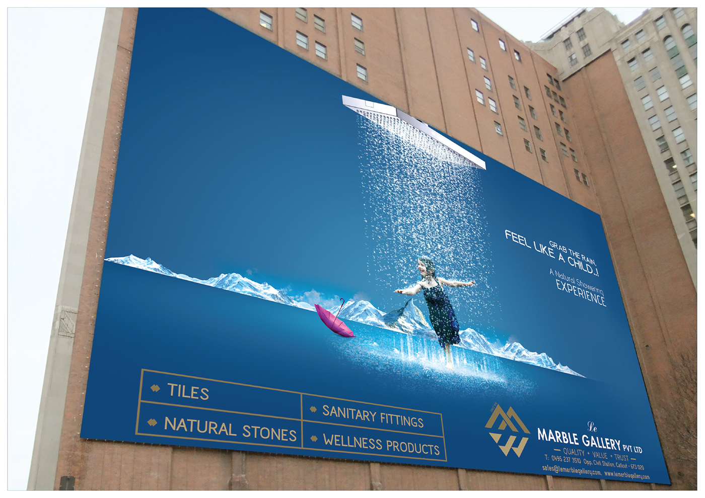 marble gallery creative ads on behance