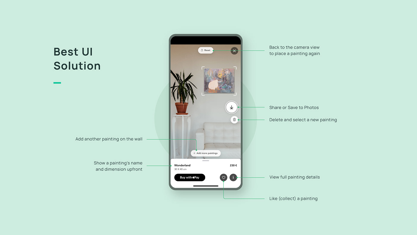 AR AR experience AR product visualization augmented reality Design for AR painting app