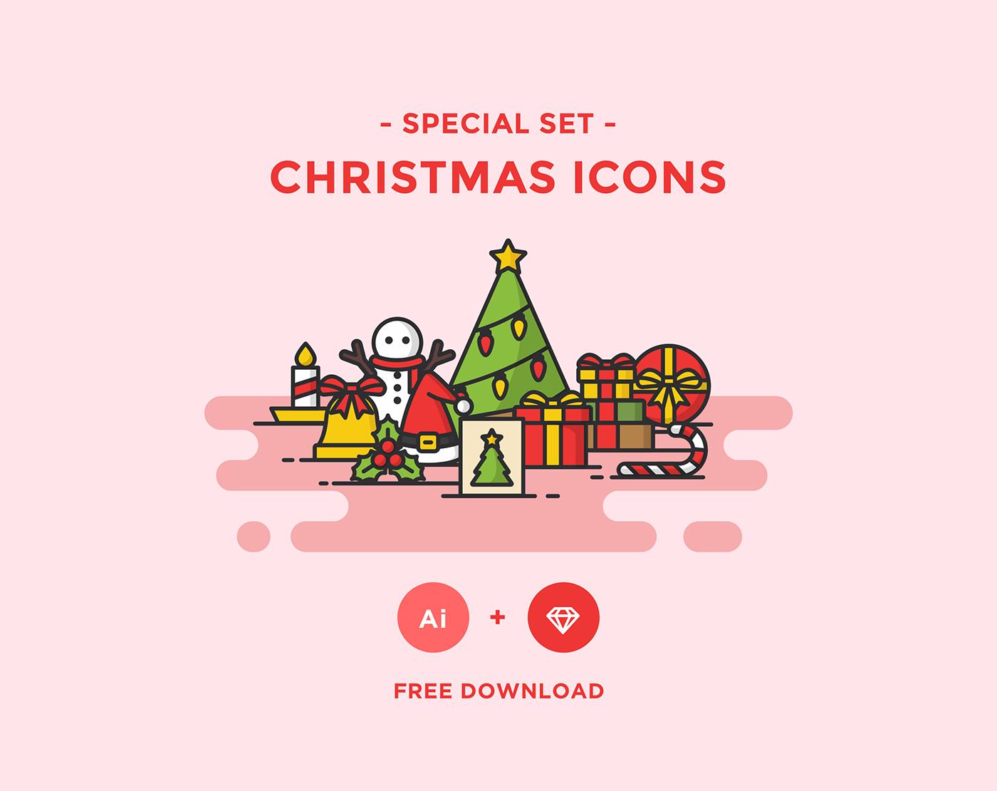 free icons download Christmas free icon christmas icon Christmas Icons flat flat icon line icon free