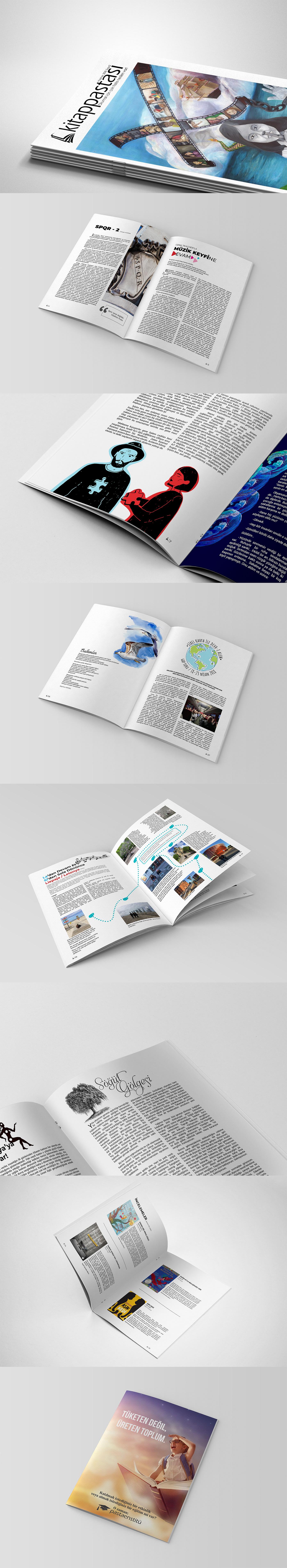 magazine design graphic minimal writing