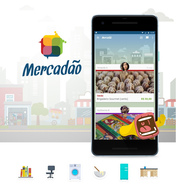 interactive,app,market,mercadão,print,material