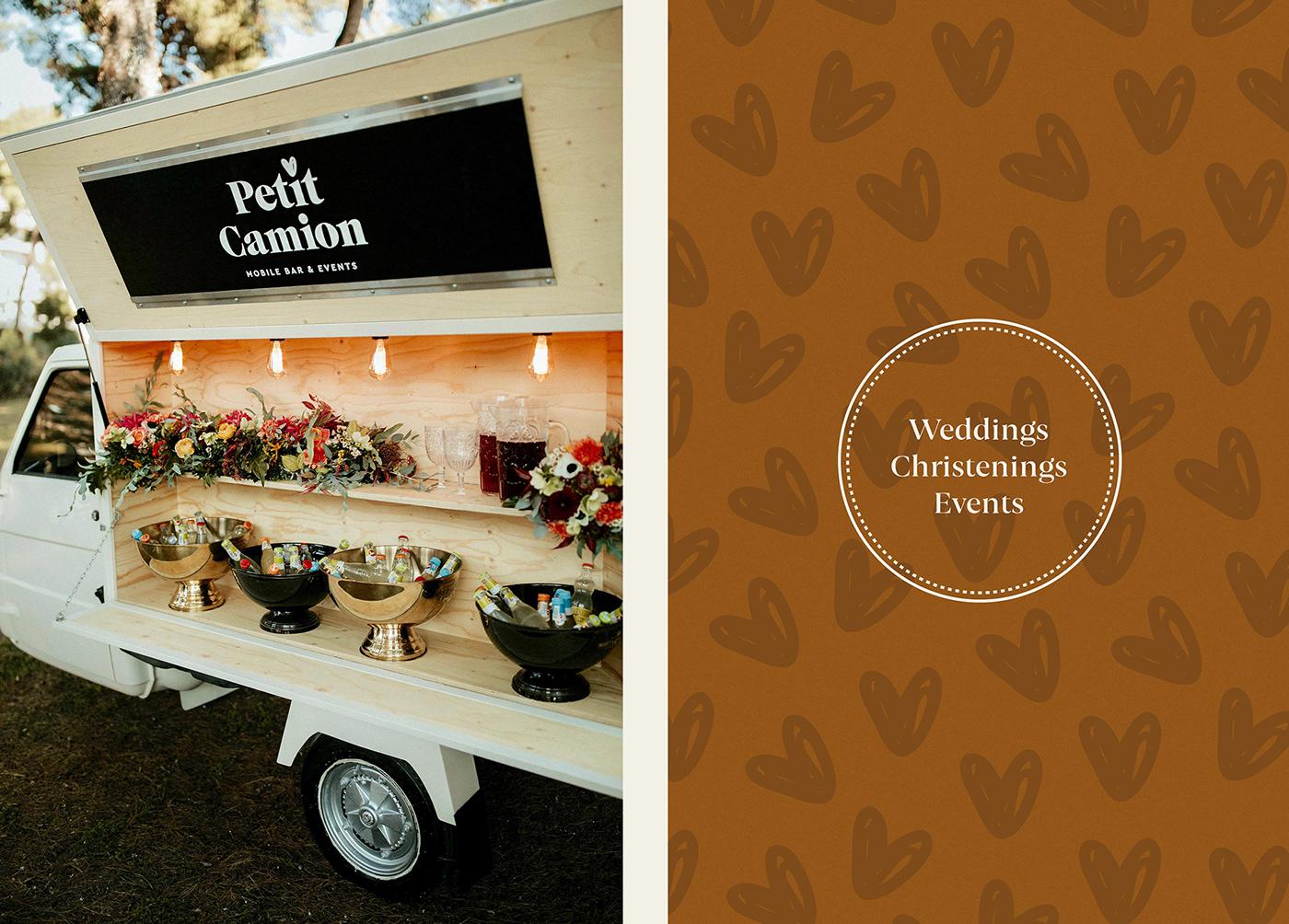 branding  christenings Event heart love logo minimal logo petit camion Weddings