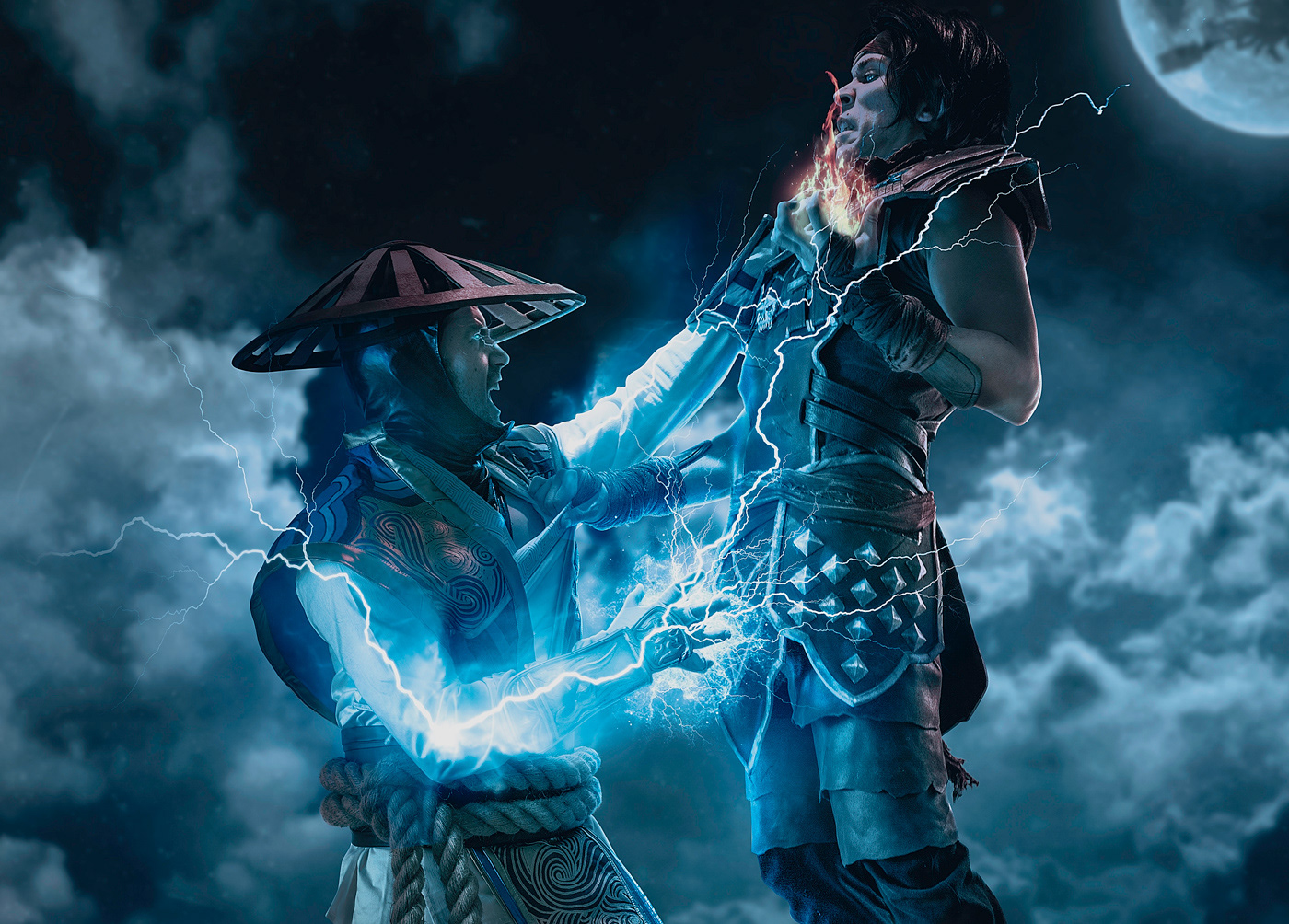 Videogames mortal kombat fight retouching  photoshop fatality Cosplay portrait Post Production