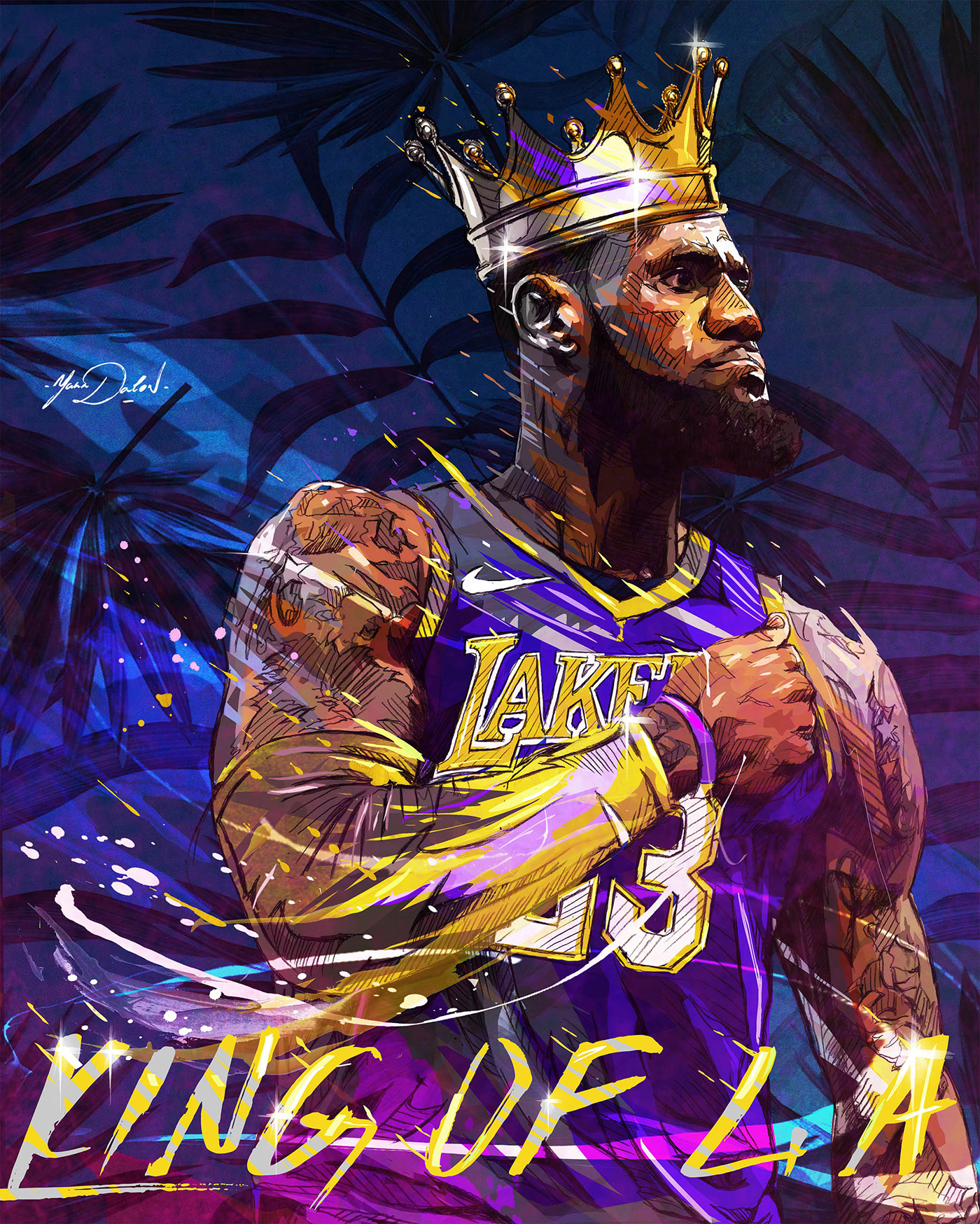 Lebron James Los Angeles Lakers On Behance